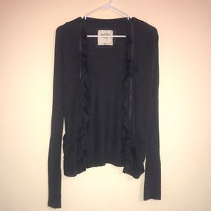 Gray Abercrombie Cardigan with Accented Opening
